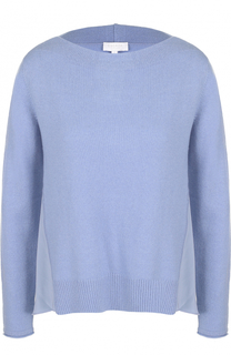Пуловер из смеси шерсти и кашемира с шелковой вставкой Escada Sport
