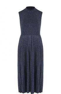 Платье с воротником-стойкой и плиссированной юбкой Carven