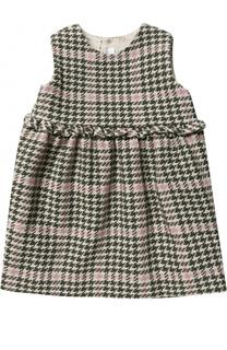 Платье без рукавов с контрастной отделкой Il Gufo