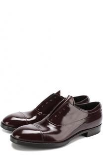 Классические кожаные оксфорды без шнуровки Premiata