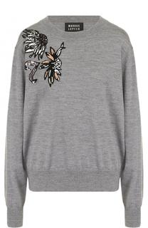 Шерстяной пуловер с вышивкой пайетками Markus Lupfer