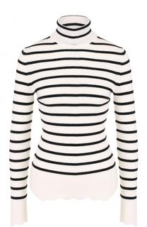 Шерстяной облегающий свитер в полоску MRZ