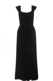 Приталенное бархатное платье-миди Armani Collezioni