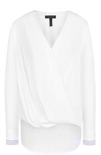 Шелковая блуза с V-образным вырезом и драпировкой Rag&Bone Rag&Bone