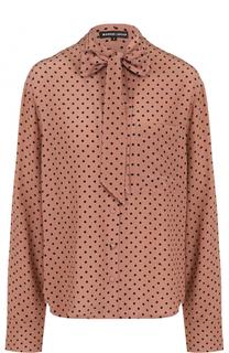 Шелковая блуза в горох с воротником аскот Markus Lupfer