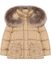 Пуховая куртка с декоративной отделкой Il Gufo