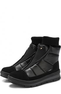 Комбинированные ботинки с декоративной молнией Jog Dog