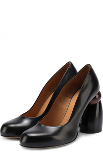 Кожаные туфли на фигурном каблуке Dries Van Noten