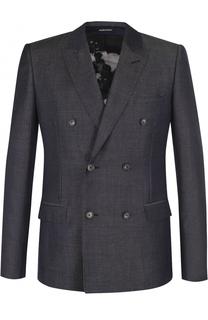 Двубортный шерстяной пиджак Alexander McQueen