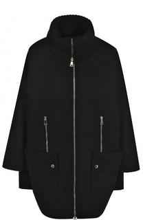Шерстяное двустороннее пальто с пуховой подстежкой Moncler