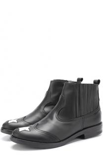 Кожаные ботинки с аппликациями Simonetta