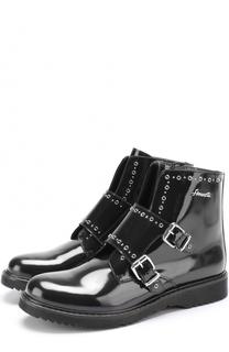 Кожаные ботинки с ремешками Simonetta