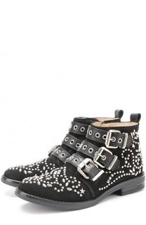 Замшевые ботинки с заклепками Ermanno Scervino
