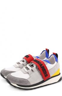 Комбинированные кроссовки с застежками велькро Dsquared2