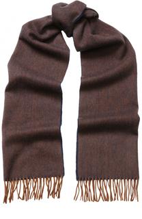 Шерстяной шарф с бахромой BOSS