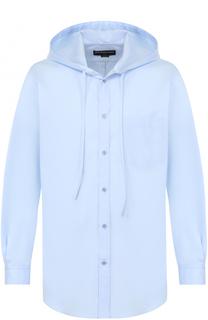 Хлопковая рубашка свободного кроя с капюшоном Balenciaga