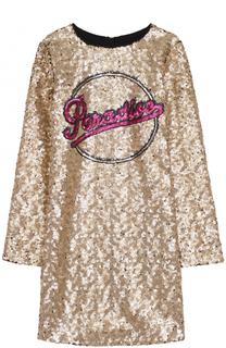 Платье с вышивкой пайетками Marc Jacobs