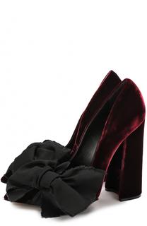 Бархатные туфли Babo с бантом Aleksandersiradekian
