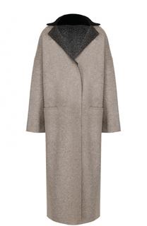 Шерстяное пальто свободного кроя Tegin