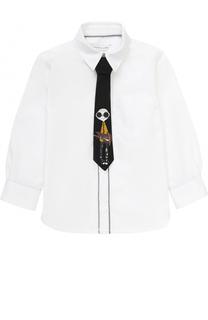 Хлопковая рубашка с галстуком Marc Jacobs