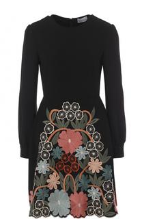 Приталенное мини-платье с декоративной отделкой REDVALENTINO