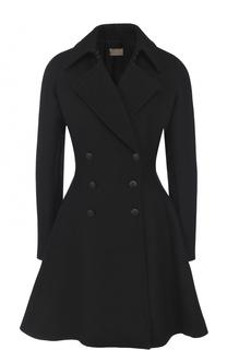 Двубортное шерстяное пальто Alaia
