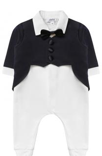 Пижама из эластичного хлопка с декоративным галстуком-бабочкой Aletta