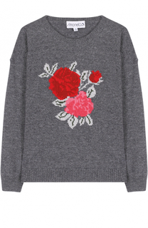 Вязаный пуловер из смеси шерсти и кашемира Simonetta
