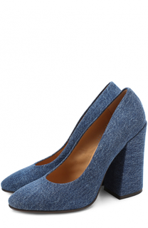 Туфли из денима на устойчивом каблуке Dries Van Noten
