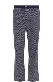 Хлопковые домашние брюки с поясом на резинке BOSS