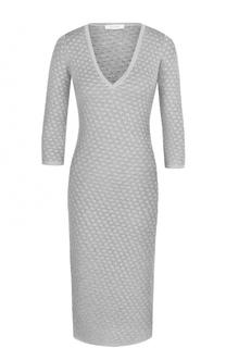 Вязаное платье-футляр с V-образным вырезом Cruciani