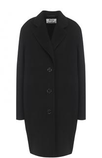 Шерстяное пальто свободного кроя со спущенным рукавом Acne Studios