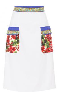 Юбка с контрастными карманами и поясом Dolce & Gabbana