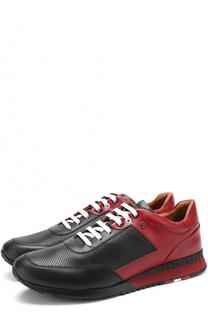Кожаные кроссовки на шнуровке Bally