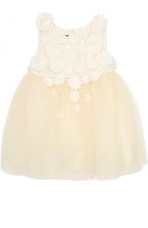 Платье с кружевной отделкой Oscar de la Renta