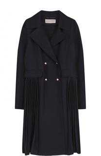 Двубортное пальто из смеси шерсти и кашемира Ermanno Scervino