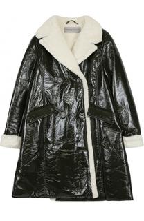 Двубортное пальто с фактурной отделкой Ermanno Scervino