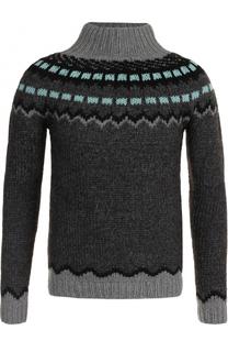 Шерстяной свитер с воротником-стойкой Valentino