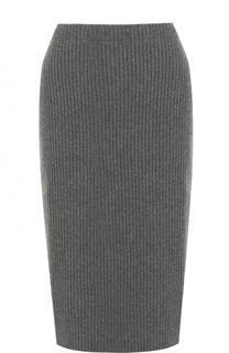Юбка-миди из смеси шерсти и кашемира Escada
