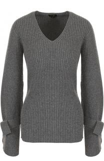Пуловер с V-образным вырезом из смеси шерсти и кашемира Escada