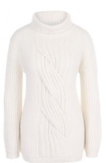 Кашемировый свитер фактурной вязки Escada