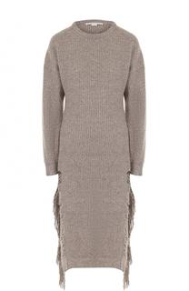 Платье фактурной вязки из смеси кашемира и шерсти Stella McCartney