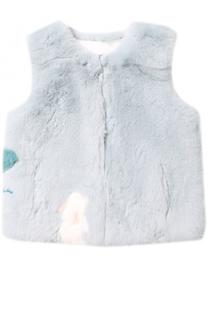 Жилет из меха кролика Yves Salomon Enfant