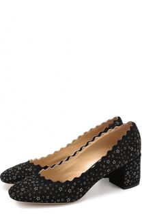 Замшевые туфли Lauren с кристаллами Chloé