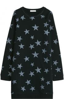 Платье джерси с аппликациями Stella McCartney