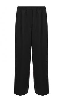 Шерстяные широкие брюки с эластичным поясом и карманами Forte_forte