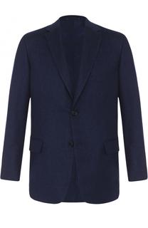 Однобортный пиджак из смеси кашемира и шелка Brioni