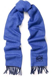 Шерстяной шарф с бахромой Loewe