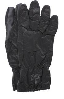 Утепленные перчатки с манжетами на резинке Stone Island