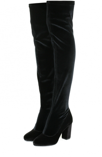 Бархатные ботфорты на устойчивом каблуке Le Silla